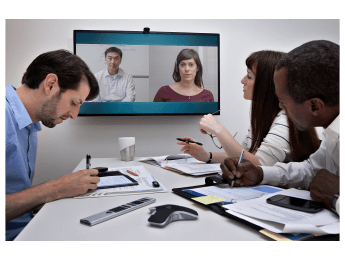 video conference huddle room
